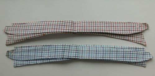 Vintage replacement shirt collar size 15 check UNUSED sew-on incl. Button down